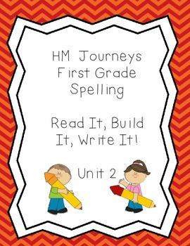 Journeys Spelling: First Grade Unit 2 Read, It, Build It, Write It!