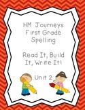 Journeys Spelling: First Grade Unit 2 Read, It, Build It,