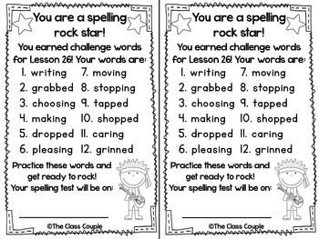 Journeys First Grade Challenge Spelling Words: Unit 6
