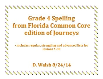 Journeys Spelling Grade 4
