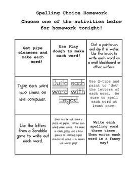 Journeys Spelling Homework Activities first grade Lessons 7-14