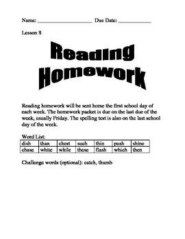 Journeys Spelling Homework Lesson 8
