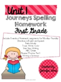 Journeys Spelling Homework Unit 1