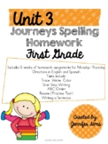 Journeys Spelling Homework Unit 3