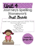 Journeys Spelling Homework Unit 4