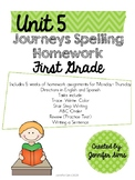 Journeys Spelling Homework Unit 5