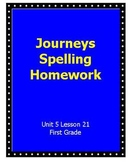 Journeys Spelling Homework Unit 5 Lesson 21