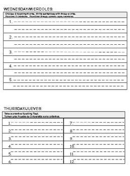 Journeys Spelling Homework Unit 5 Lesson 21