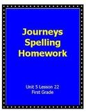 Journeys Spelling Homework Unit 5 Lesson 22