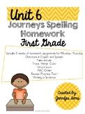 Journeys Spelling Homework Unit 6