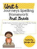 Journeys Spelling Homework Unit 6
