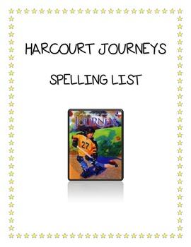 Harcourt Journeys Spelling List 5th Grade