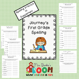 Journeys Spelling Lists - First Grade
