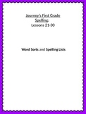 Journey's Spelling Lists: Lessons 21-30  Grade 1
