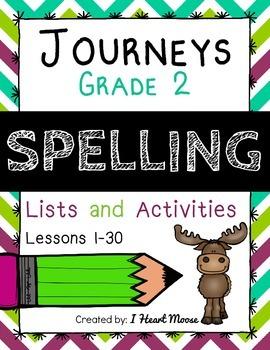 Journeys 2014 Grade 2 Spelling: Lessons 1-30 Bundle