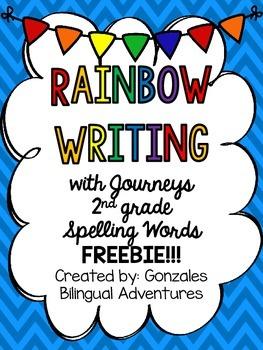 Journeys Spelling Rainbow Write FREEBIE