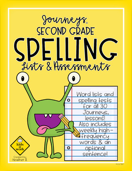 Journeys Spelling Second Grade, Complete Year, with Sentence and H. F. Words