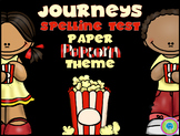Journeys Spelling Test Paper - Popcorn Theme!