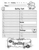 Journeys Spelling Test Template