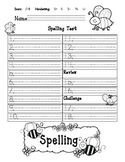 Journeys Spelling Test Template