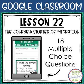 Journeys Spelling Test l 3rd Grade l Lesson 22 l Google Classroom