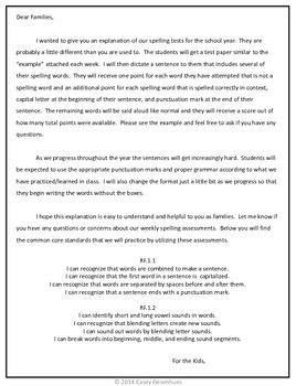 Journeys Spelling Tests (Unit 1)