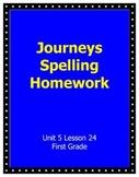 Journeys Spelling Unit 5 Lesson 24 Homework