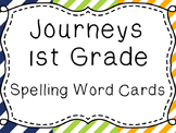 Journeys Spelling Word Cards, 1st Grade Stripes