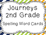 Journeys Spelling Word Cards, 2nd Grade Stripes