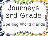 Journeys Spelling Word Cards, 3rd Grade Stripes