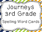 Journeys Spelling Word Cards, 3rd Grade Stripes