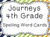 Journeys Spelling Word Cards, 4th Grade Stripes