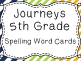 Journeys Spelling Word Cards, 5th Grade Stripes