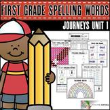 Spelling Practice (Journeys Spelling Words First Grade Unit 1 Supplement)
