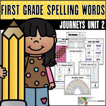 Journeys Spelling Word Practice First Grade Unit 2