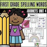 Spelling Practice (Journeys Spelling Words First Grade Unit 4 Supplement)