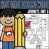 Spelling Practice (Journeys Spelling Words First Grade Unit 6 Supplement)