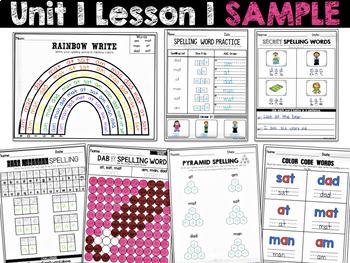 Spelling Practice (Journeys Spelling Words First Grade Units 1-6 Supplement)