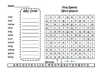 Spelling Word Searches and ABC Order Grade 2 Set 2