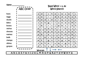 Journeys Spelling Word Searches and ABC Order Grade 2 Set 3 by Super ...
