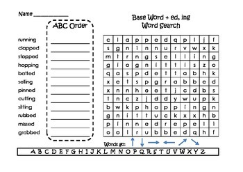 Spelling Word Searches and ABC Order Grade 2 Set 4