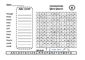 Spelling Word Searches and ABC Order Grade 2 Set 5