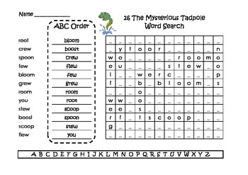 Spelling Word Searches and ABC Order Grade 2 Set 6