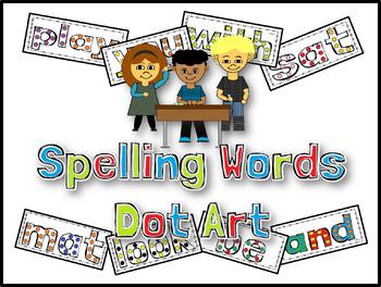 Journeys Spelling Words Dot Art Lessons 11 - 20 (First Grade)