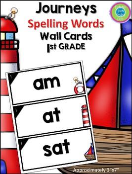 Journeys Spelling Words- Nautical Wall Words- 1st Grade