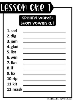 Journeys Spelling Words Unit 1 ©2014 Edition
