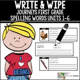 Write and Wipe Cards (Journeys First Grade Units 1-6 Spelling Words Supplement)