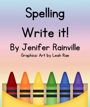 Journeys Spelling Write It!
