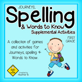 Journeys Spelling and Words to Know [NO PREP] Activities f