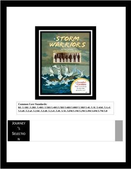 "Journey's ""Storm Warriors"" Comprehension & Vocabulary Worksheet"